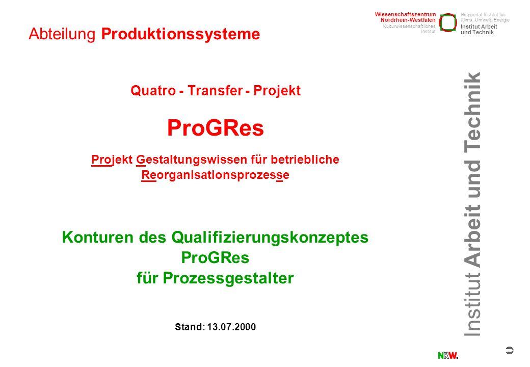 Abteilung Produktionssysteme