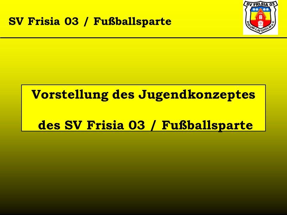 Vorstellung des Jugendkonzeptes des SV Frisia 03 / Fußballsparte