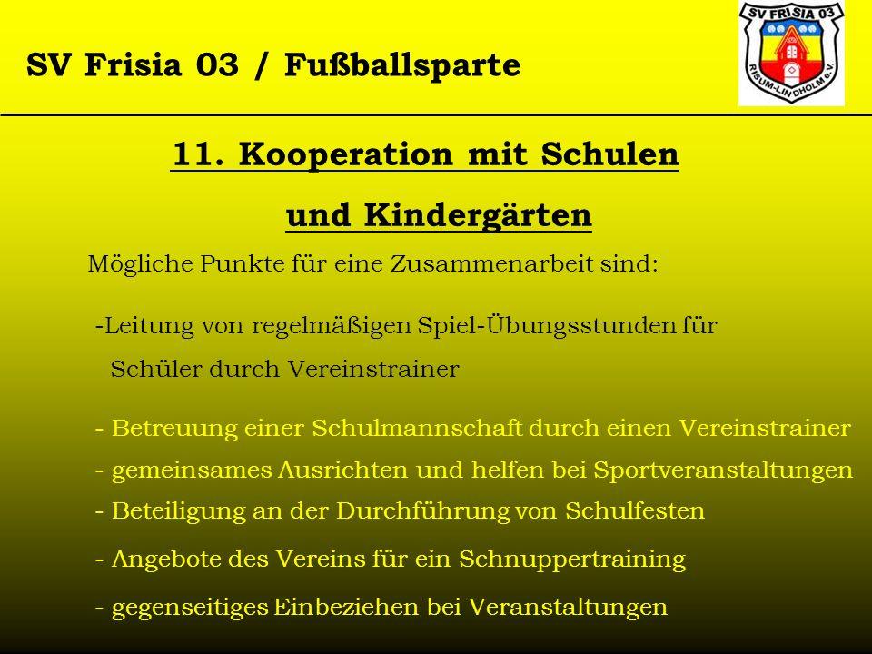 11. Kooperation mit Schulen und Kindergärten