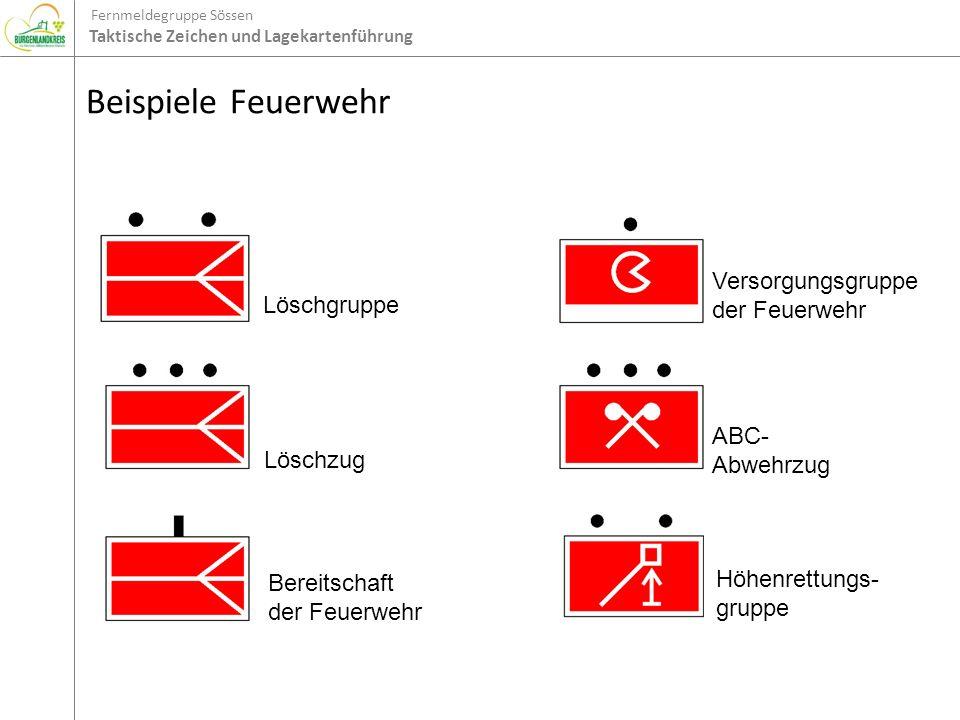 Beispiele Feuerwehr Löschgruppe Versorgungsgruppe der Feuerwehr