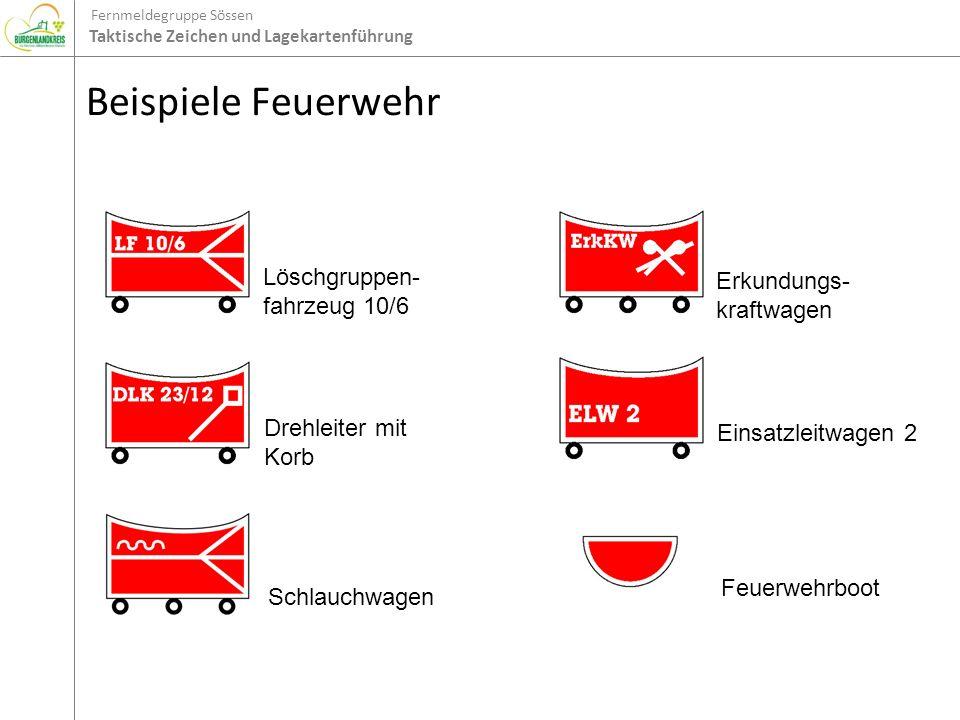 Beispiele Feuerwehr Löschgruppen-fahrzeug 10/6 Erkundungs-kraftwagen