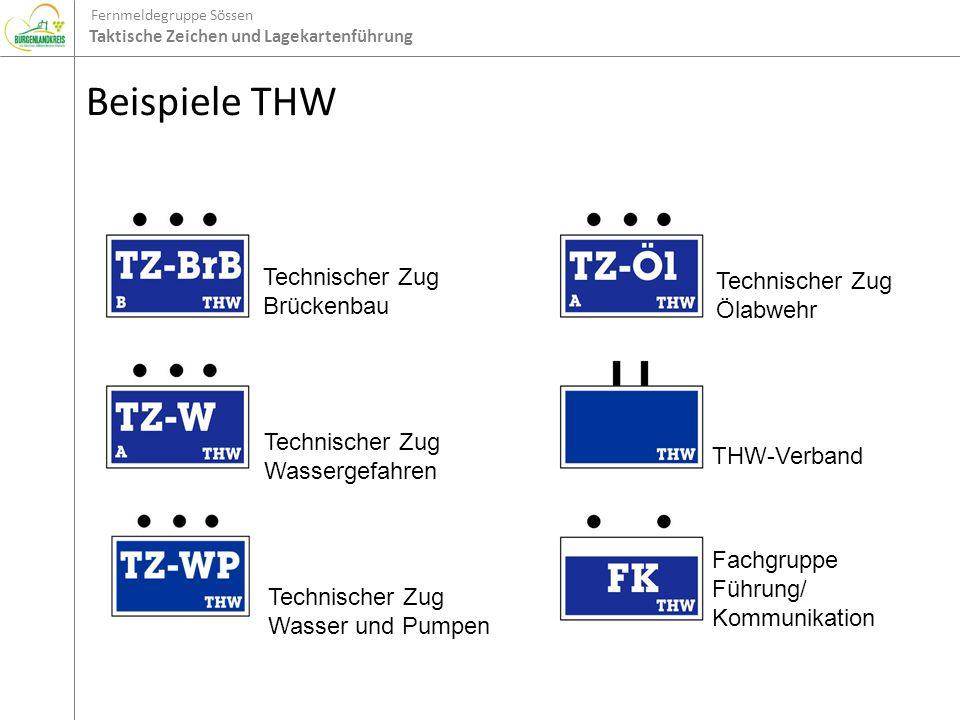 Beispiele THW Technischer Zug Brückenbau Technischer Zug Ölabwehr