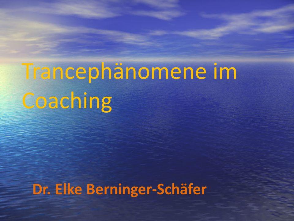 Trancephänomene im Coaching