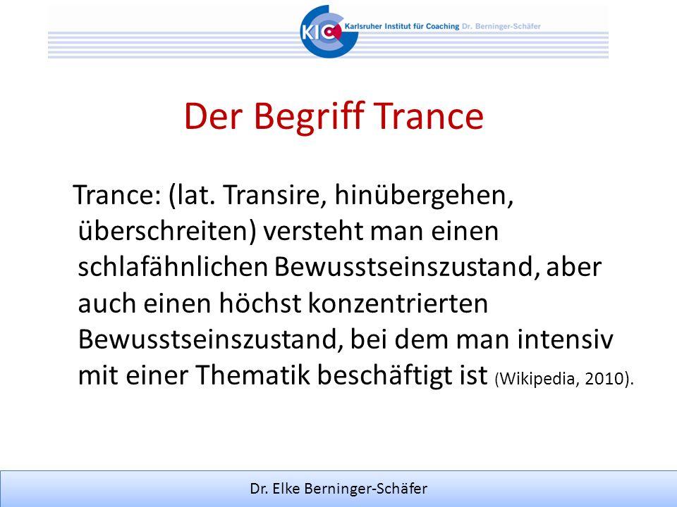 Der Begriff Trance