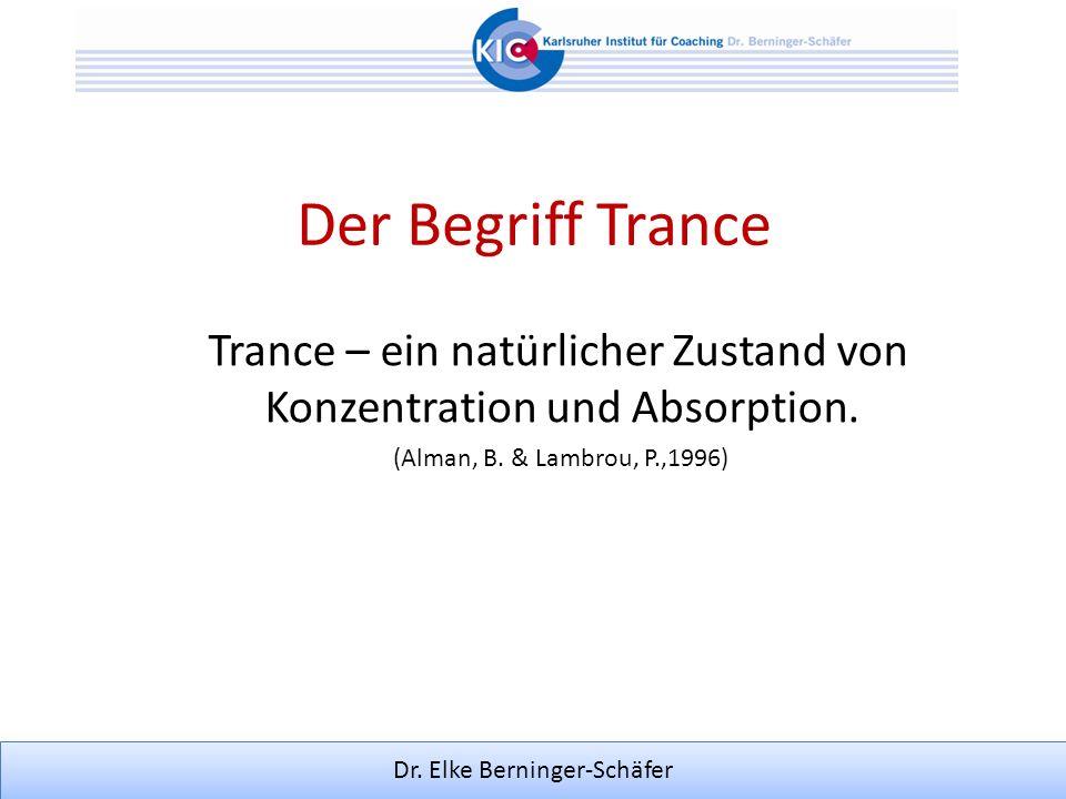 Trance – ein natürlicher Zustand von Konzentration und Absorption.