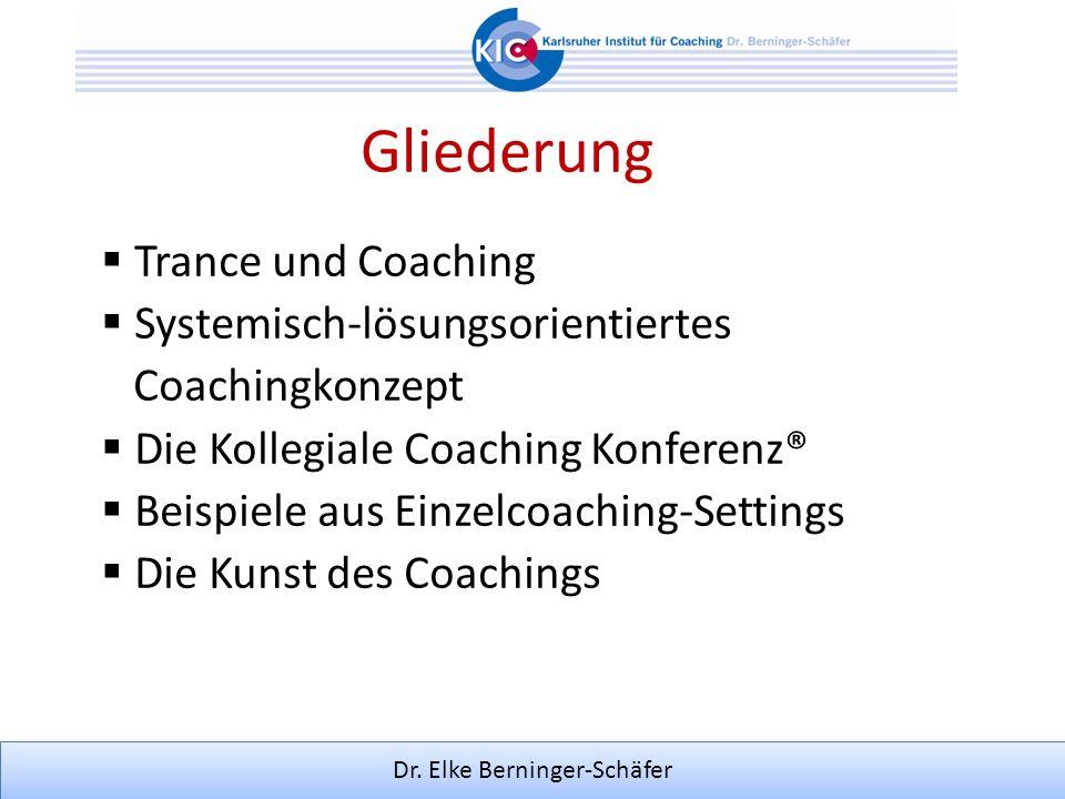 Gliederung Trance und Coaching Systemisch-lösungsorientiertes