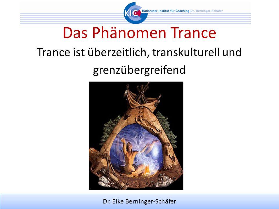 Trance ist überzeitlich, transkulturell und grenzübergreifend