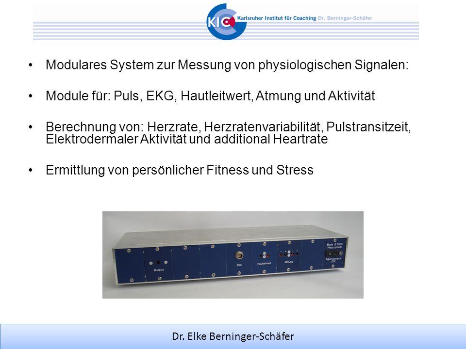 Modulares System zur Messung von physiologischen Signalen: