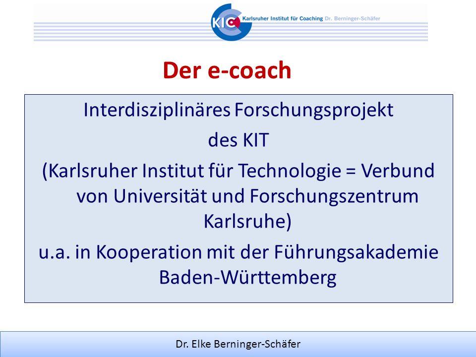 Der e-coach Interdisziplinäres Forschungsprojekt des KIT