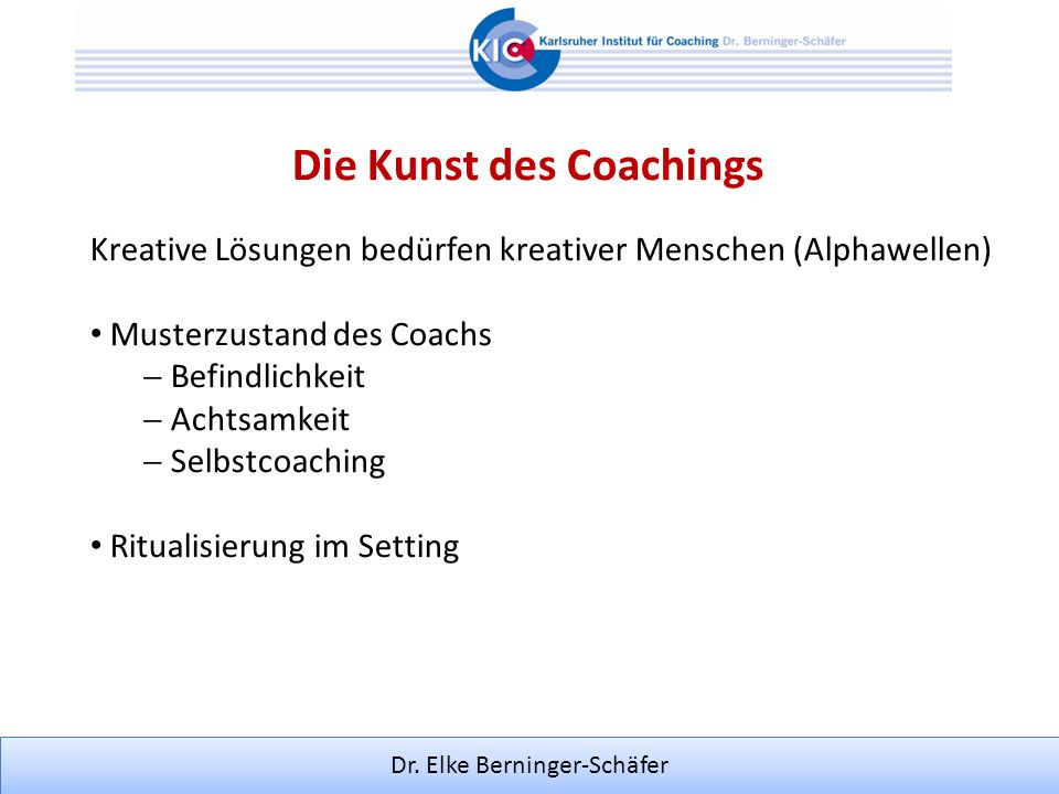 Die Kunst des Coachings