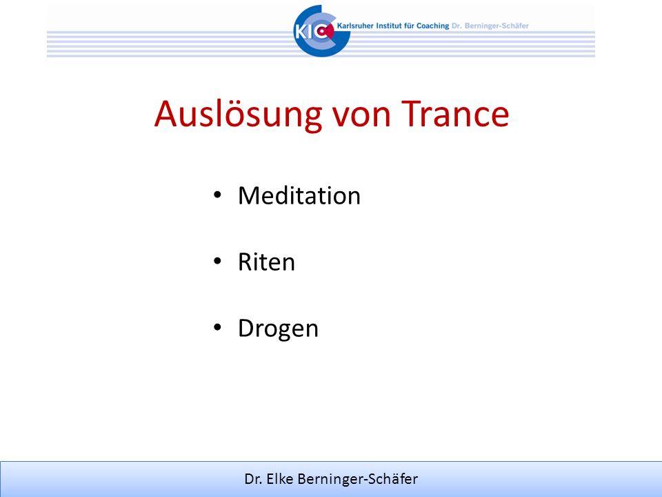 Auslösung von Trance Meditation Riten Drogen