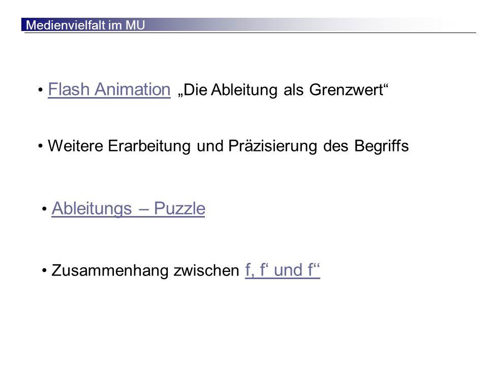 """Flash Animation """"Die Ableitung als Grenzwert"""