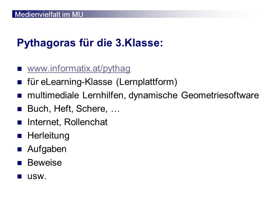 Pythagoras für die 3.Klasse:
