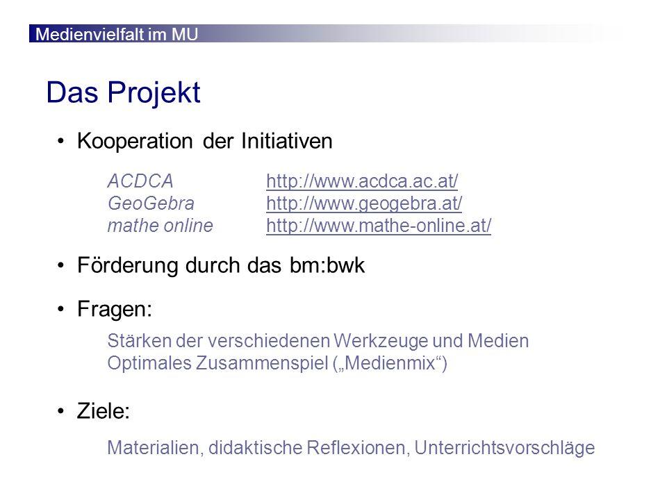 Das Projekt Kooperation der Initiativen Förderung durch das bm:bwk