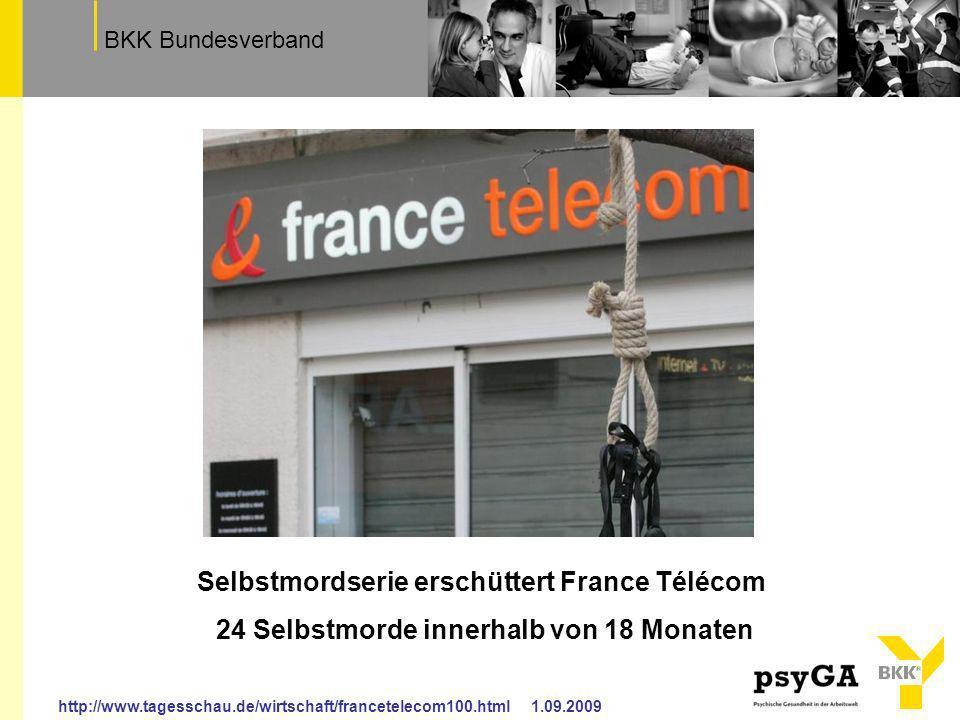 Selbstmordserie erschüttert France Télécom