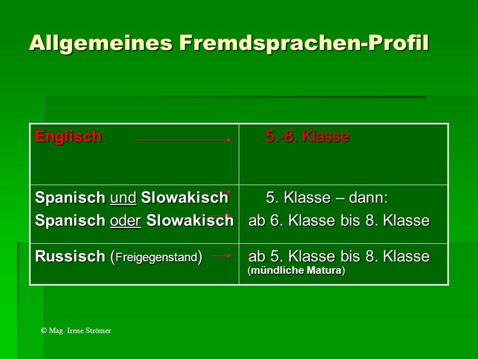 Allgemeines Fremdsprachen-Profil