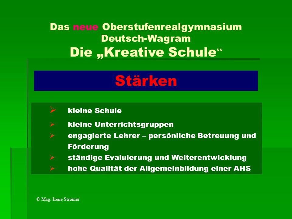 """Das neue Oberstufenrealgymnasium Deutsch-Wagram Die """"Kreative Schule"""