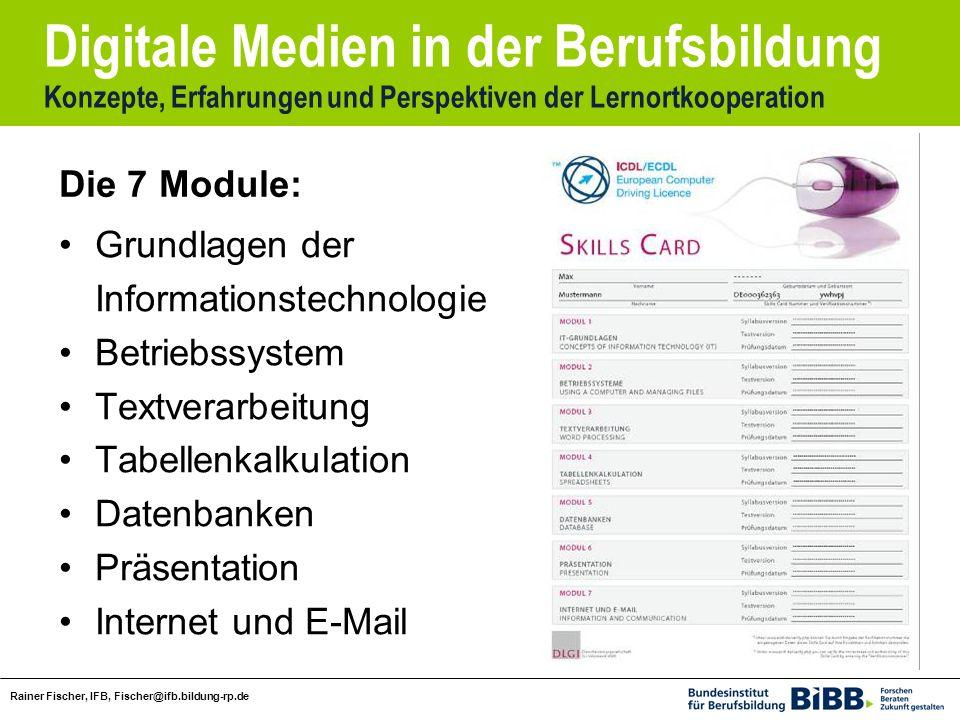 Die 7 Module: Grundlagen der. Informationstechnologie. Betriebssystem. Textverarbeitung. Tabellenkalkulation.