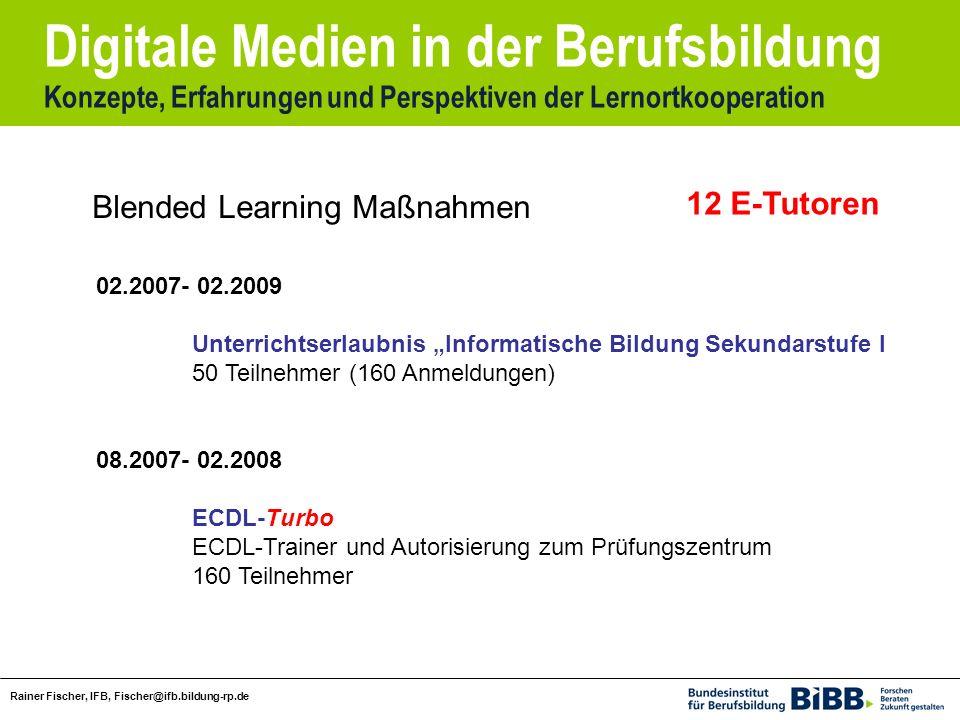 Blended Learning Maßnahmen 12 E-Tutoren