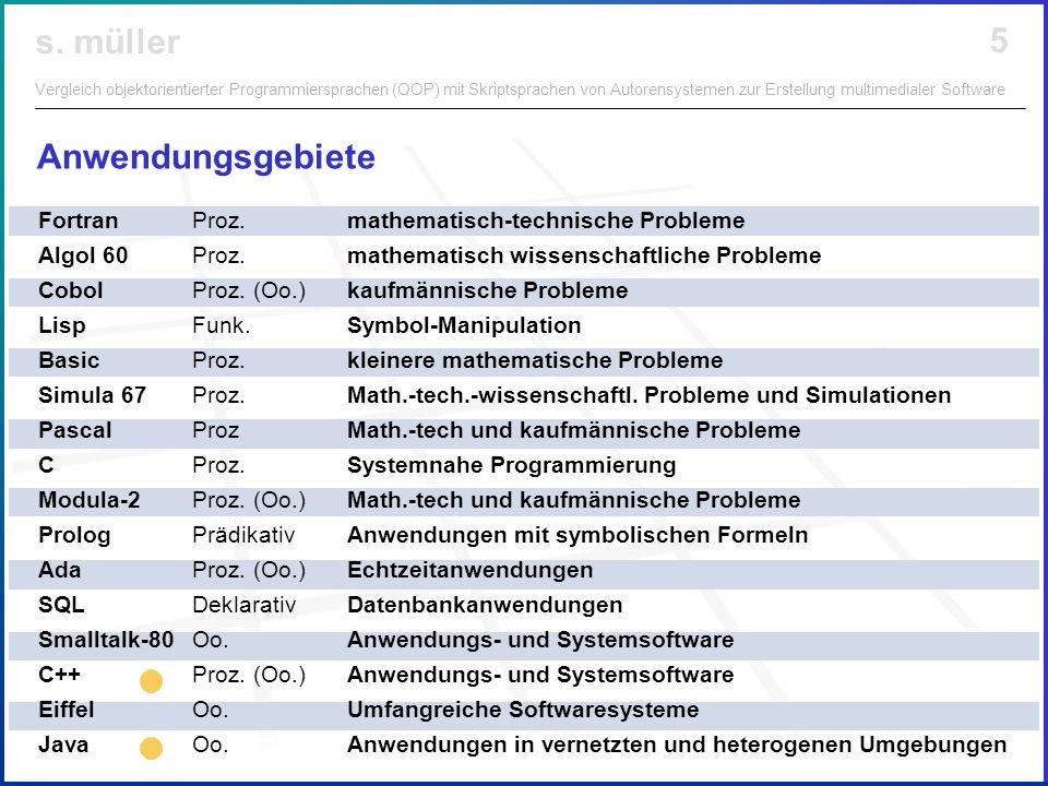 Anwendungsgebiete Fortran Proz. mathematisch-technische Probleme