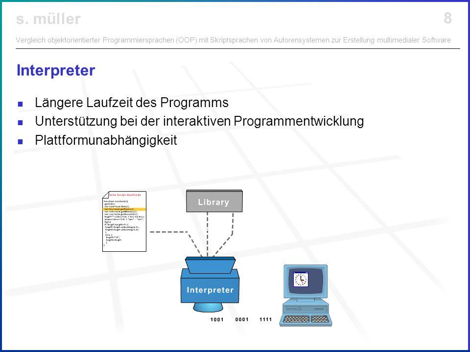 Interpreter Längere Laufzeit des Programms