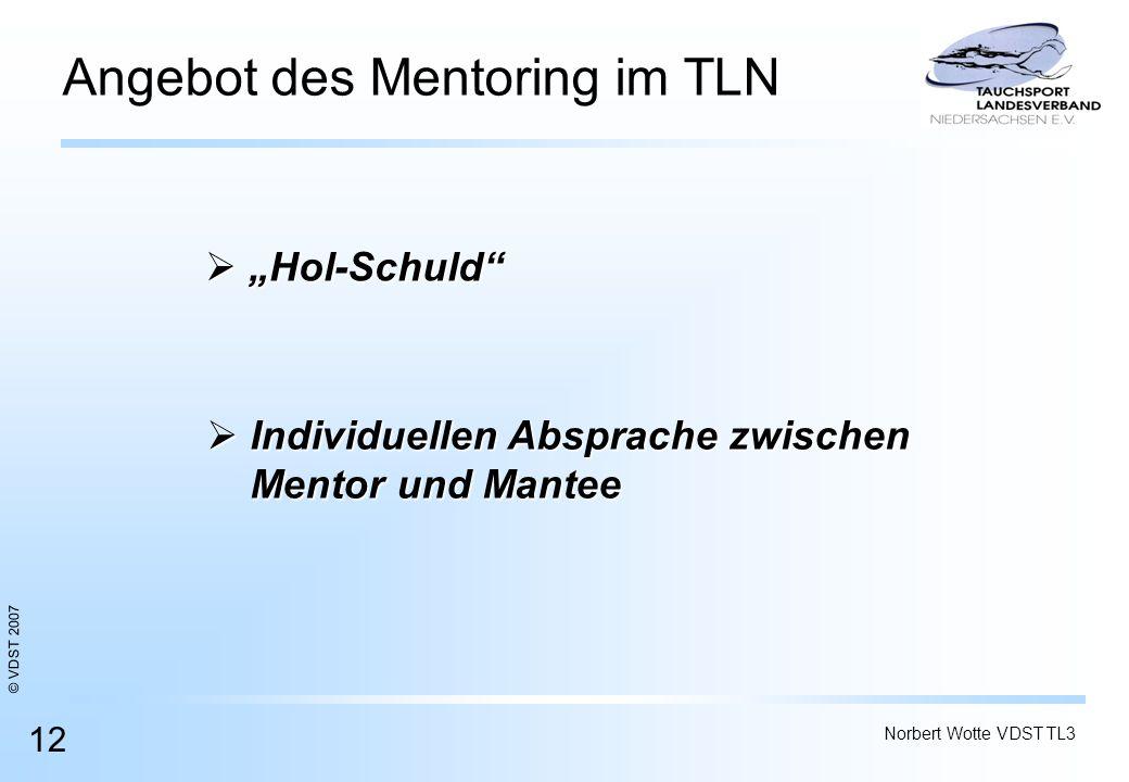 Angebot des Mentoring im TLN