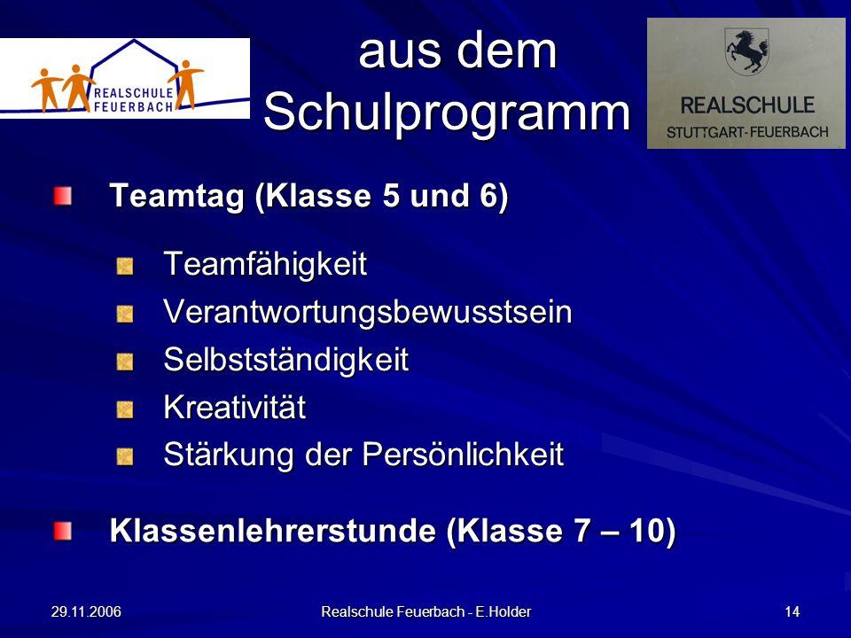 Realschule Feuerbach - E.Holder
