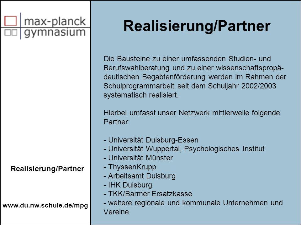 Realisierung/Partner