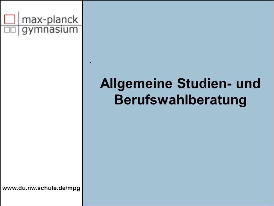 Allgemeine Studien- und Berufswahlberatung