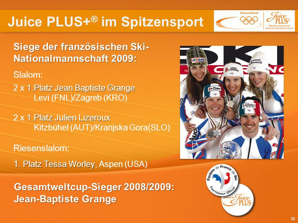 Juice PLUS+® im Spitzensport