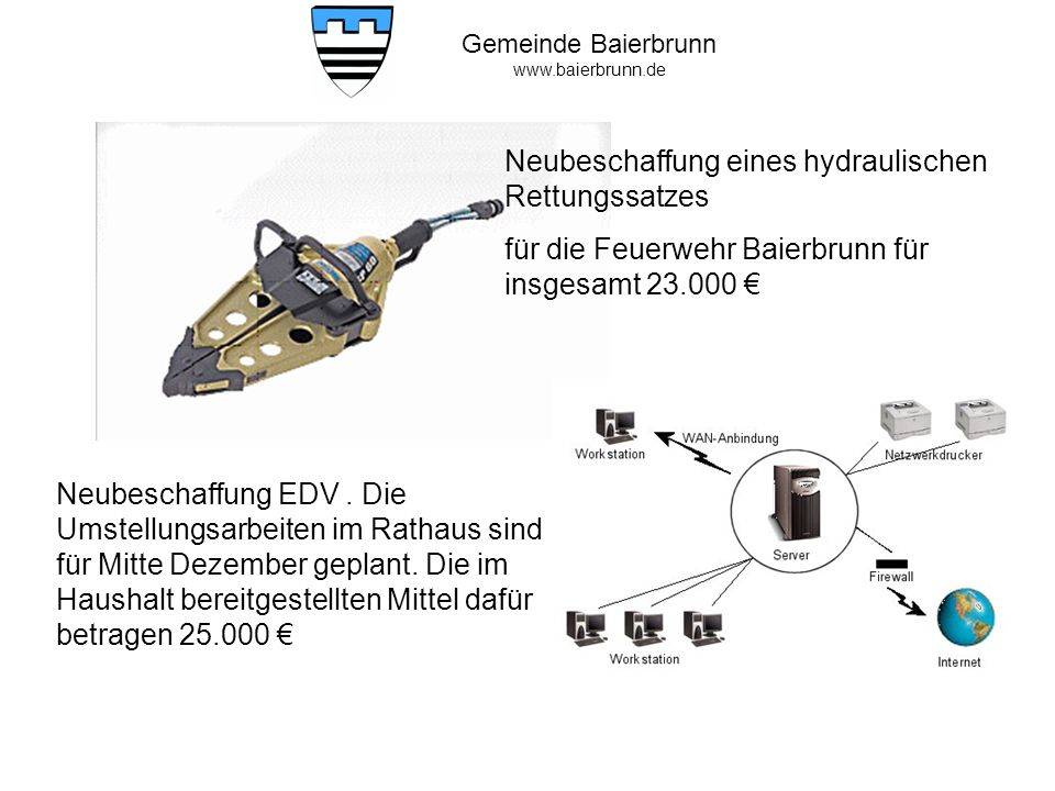 Neubeschaffung eines hydraulischen Rettungssatzes