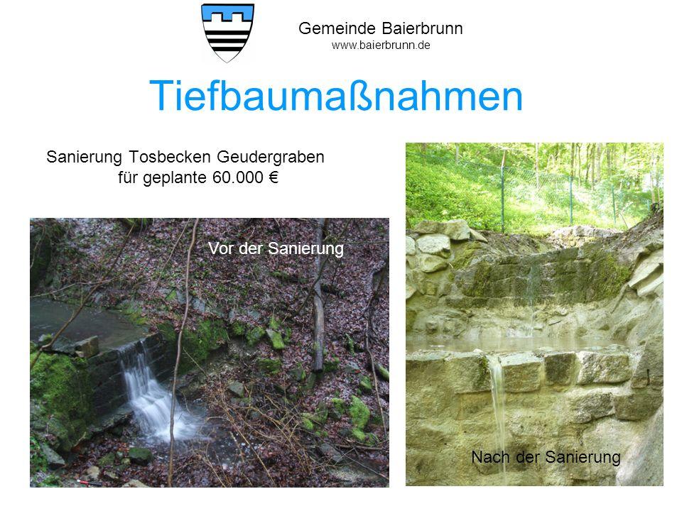 Sanierung Tosbecken Geudergraben für geplante 60.000 €