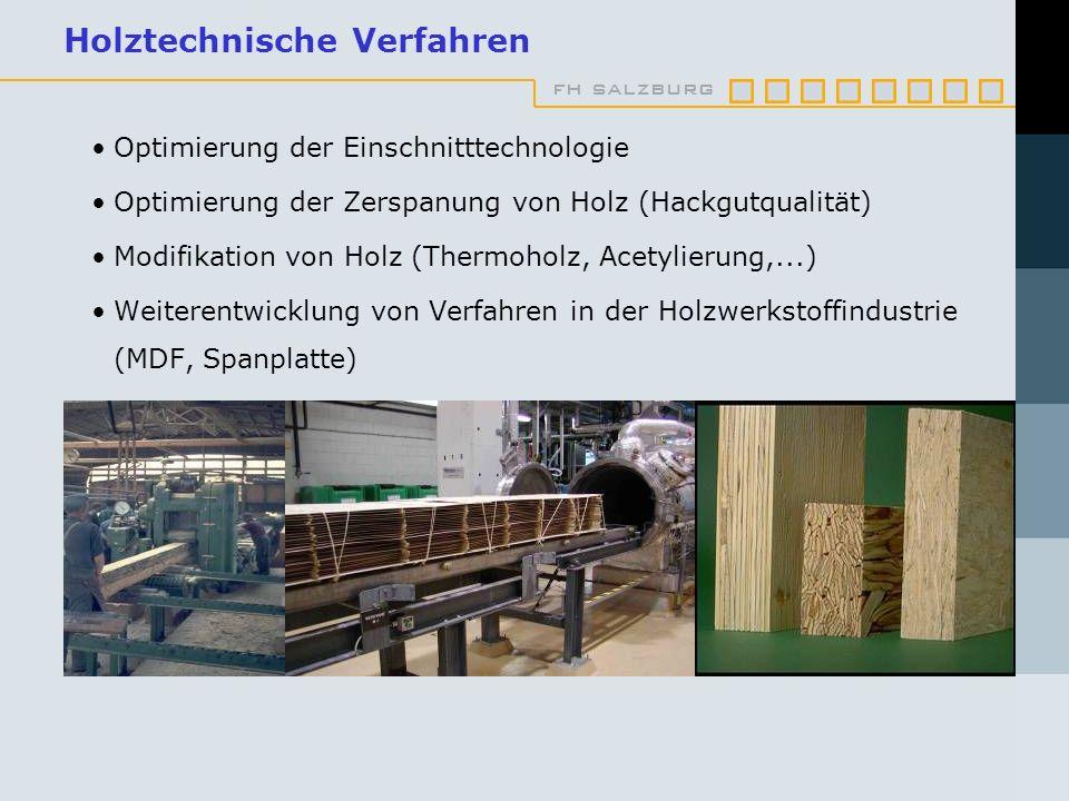 Holztechnische Verfahren