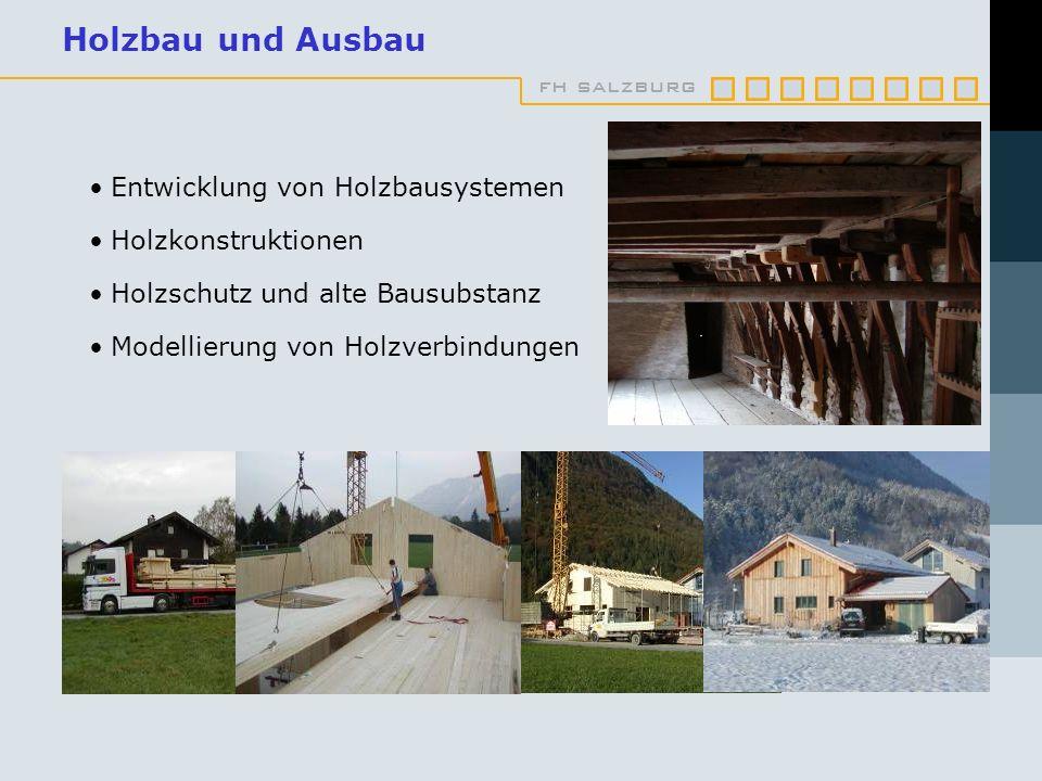 Holzbau und Ausbau Entwicklung von Holzbausystemen Holzkonstruktionen