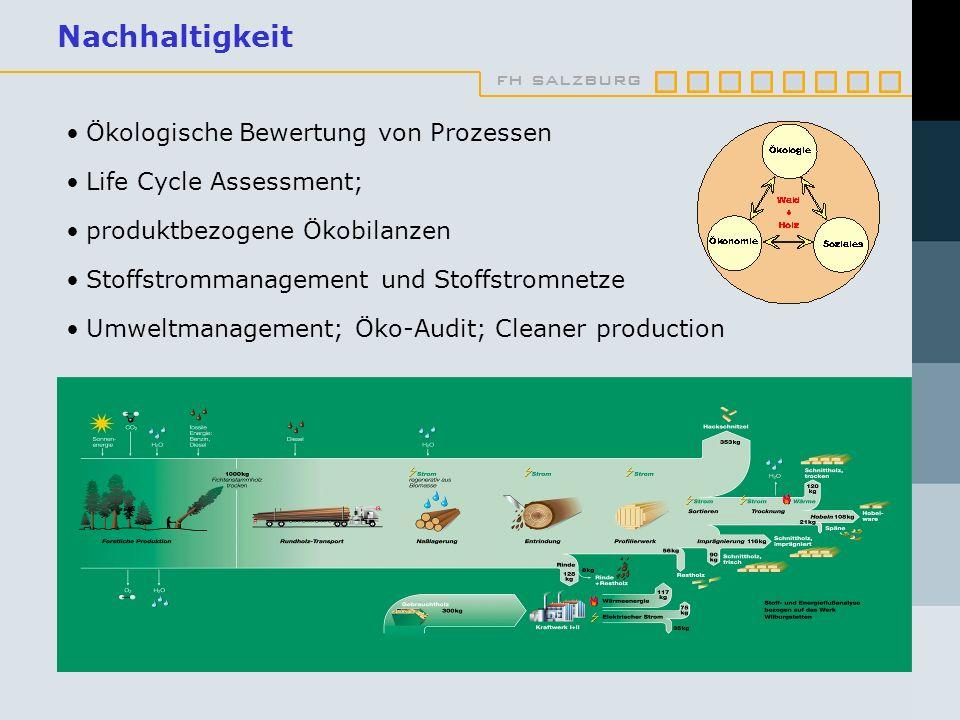 Nachhaltigkeit Ökologische Bewertung von Prozessen