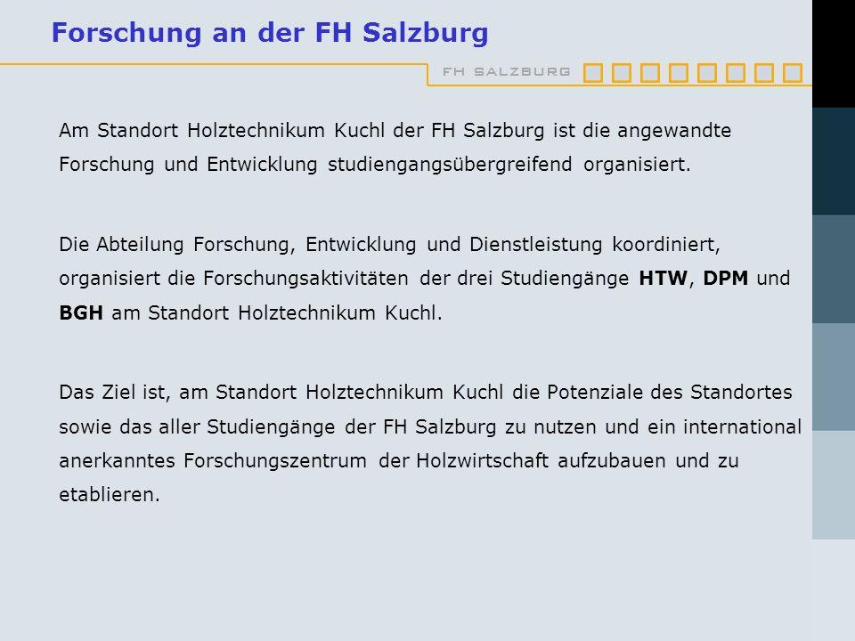 Forschung an der FH Salzburg