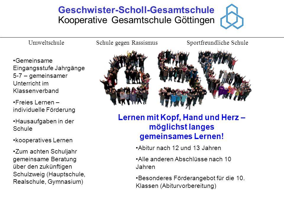 Geschwister-Scholl-Gesamtschule Lernen mit Kopf, Hand und Herz –