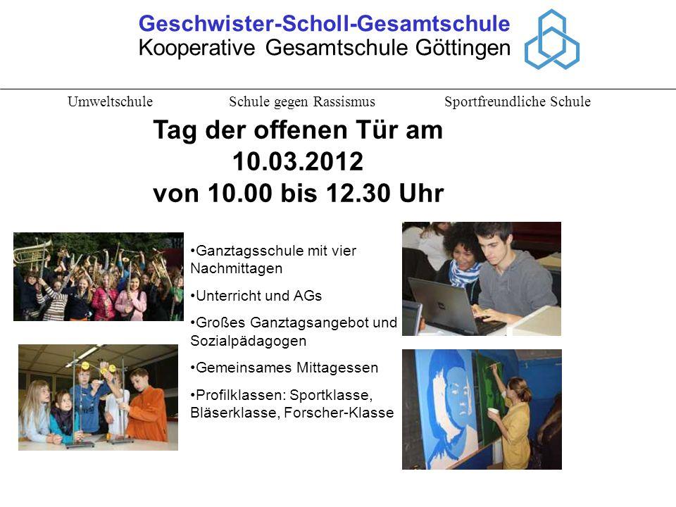 Tag der offenen Tür am 10.03.2012 von 10.00 bis 12.30 Uhr