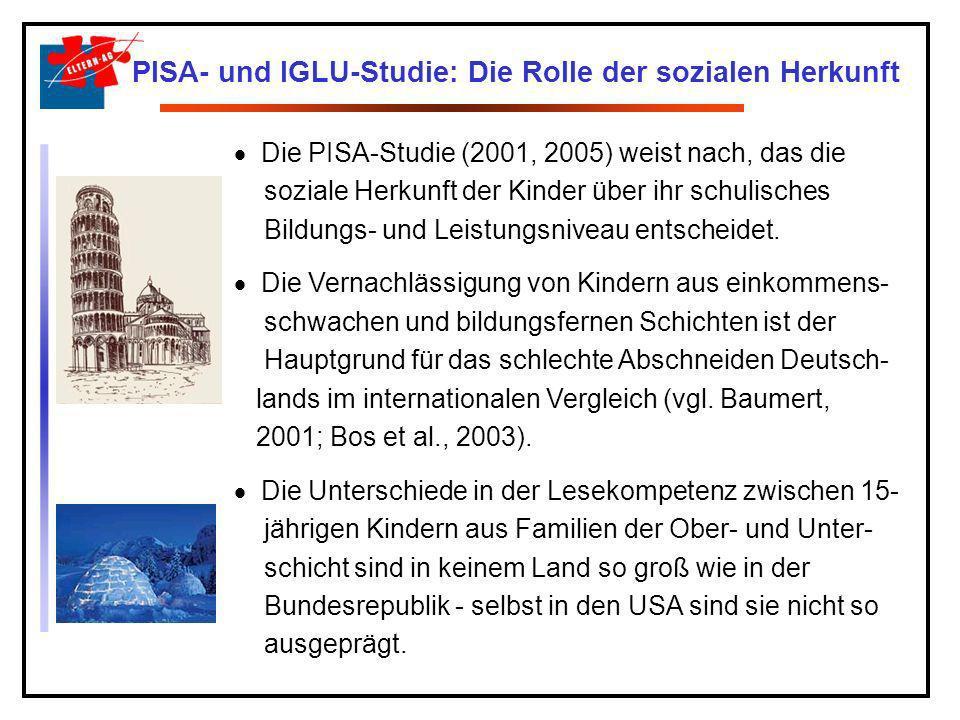 PISA- und IGLU-Studie: Die Rolle der sozialen Herkunft