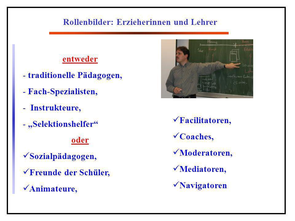 Rollenbilder: Erzieherinnen und Lehrer
