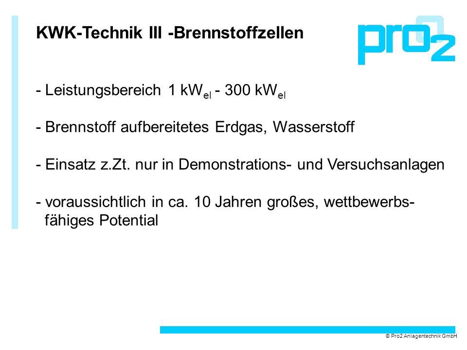 KWK-Technik III -Brennstoffzellen