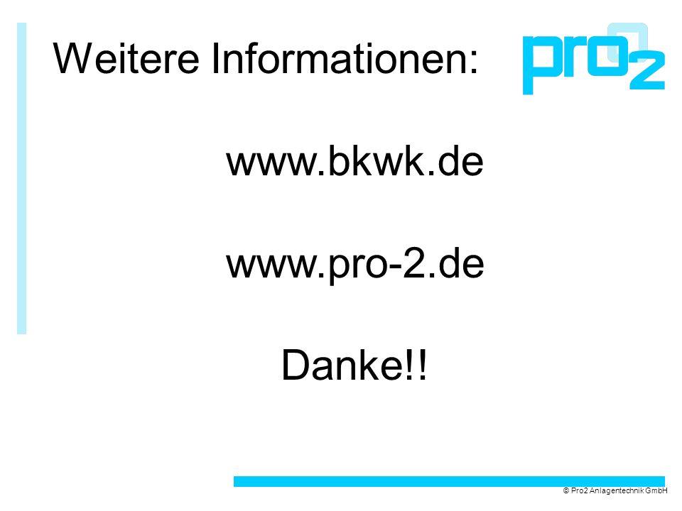 Weitere Informationen: www.bkwk.de www.pro-2.de Danke!!