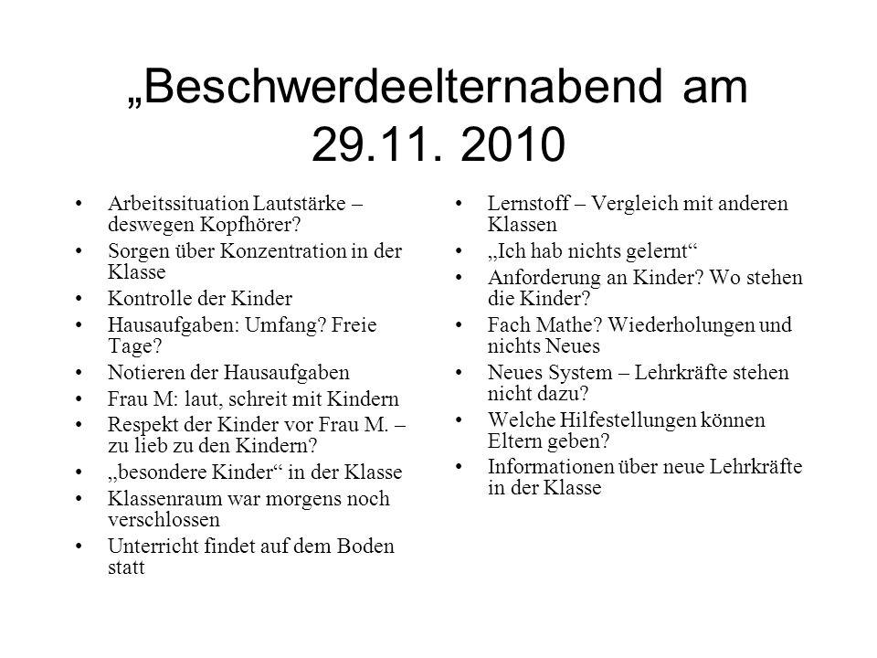 """""""Beschwerdeelternabend am 29.11. 2010"""