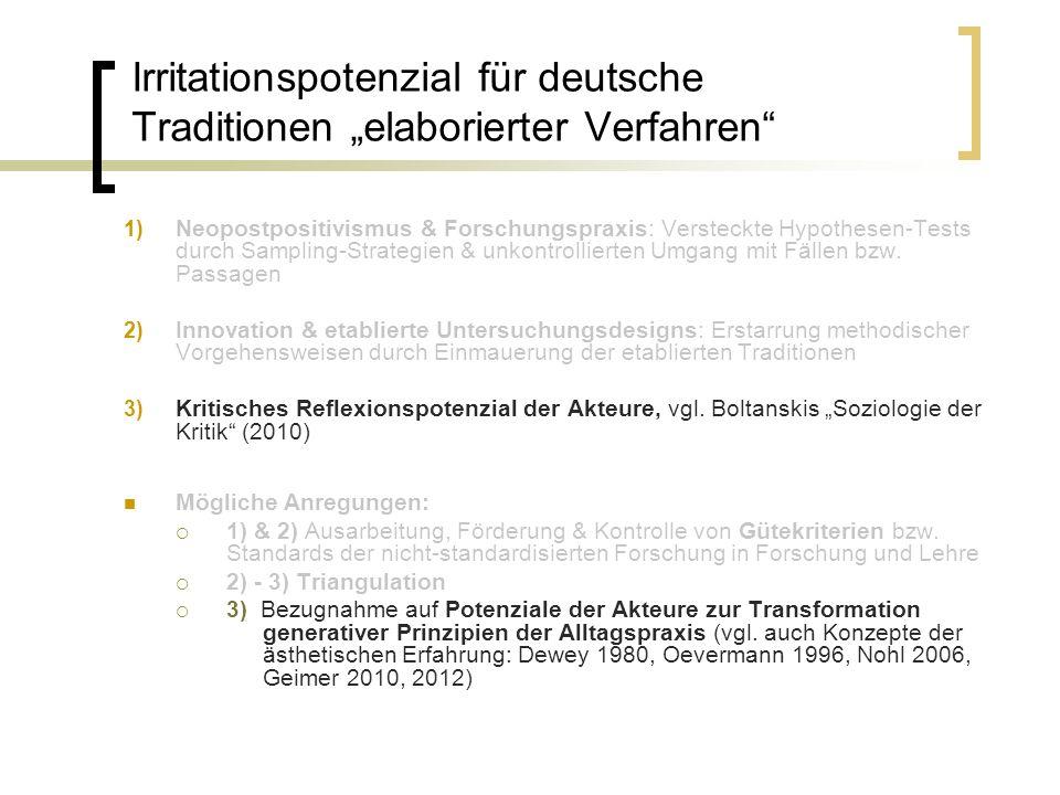 """Irritationspotenzial für deutsche Traditionen """"elaborierter Verfahren"""