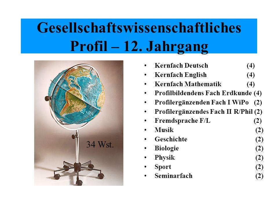 Gesellschaftswissenschaftliches Profil – 12. Jahrgang