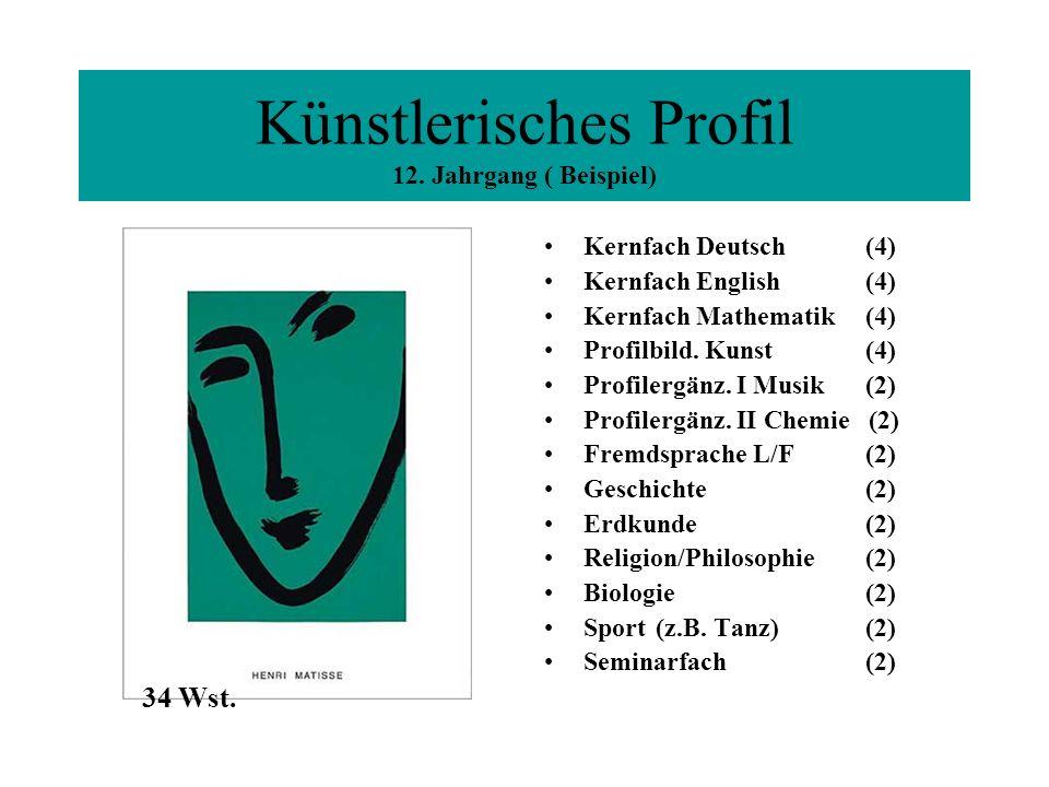 Künstlerisches Profil 12. Jahrgang ( Beispiel)