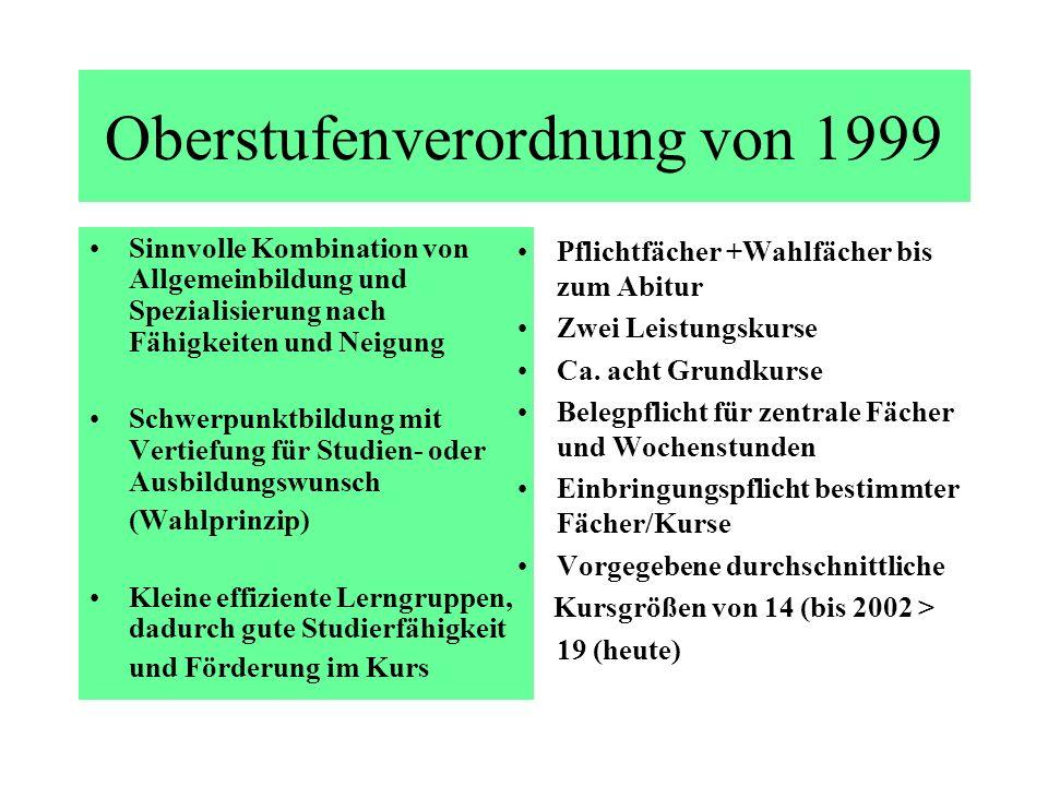 Oberstufenverordnung von 1999