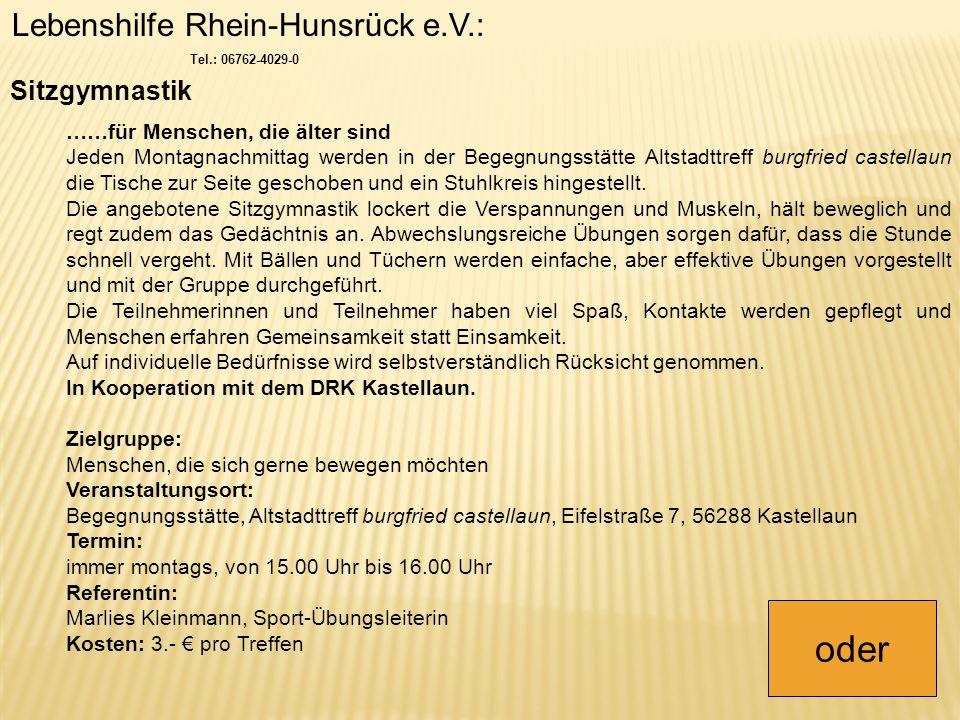 Lebenshilfe Rhein-Hunsrück e.V.: