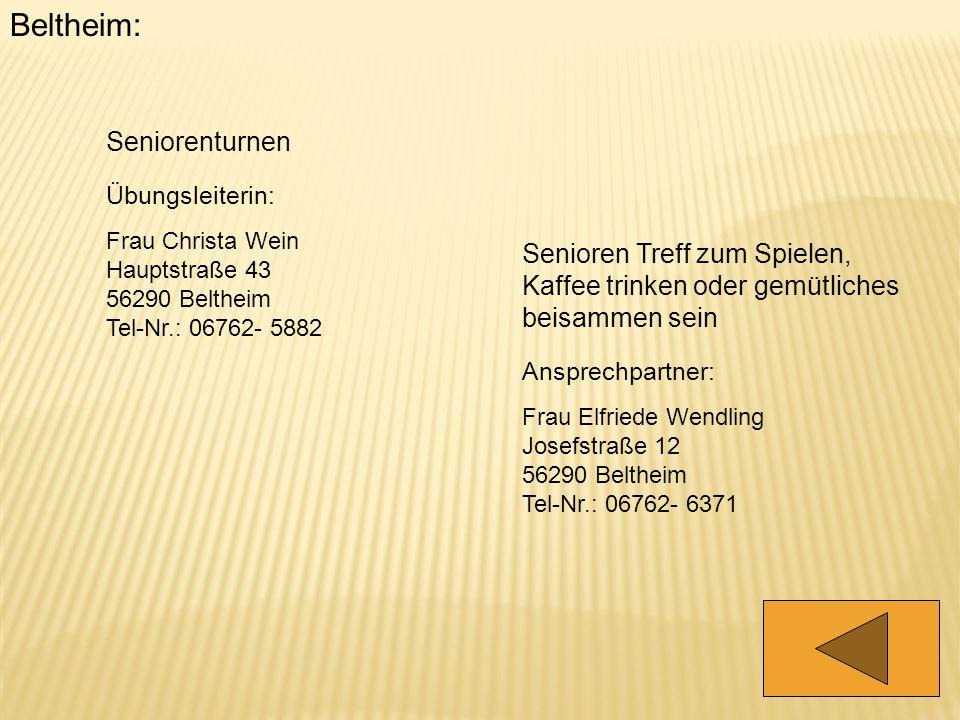 Beltheim: Seniorenturnen