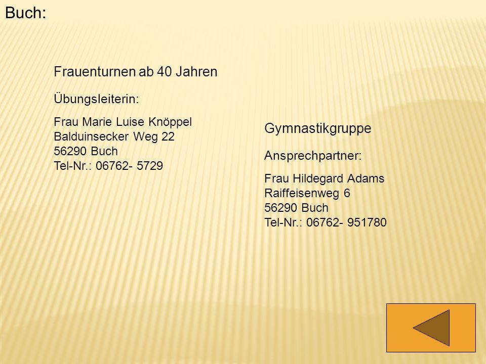 Buch: Frauenturnen ab 40 Jahren Gymnastikgruppe Übungsleiterin: